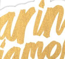M Logo Gold Sticker