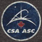 Vintage Emblem Canadian Space Agency by Lidra