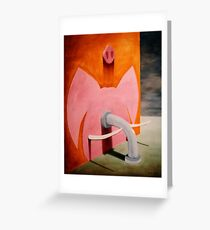 SURREALISM - Pinky Pig Elephant Greeting Card