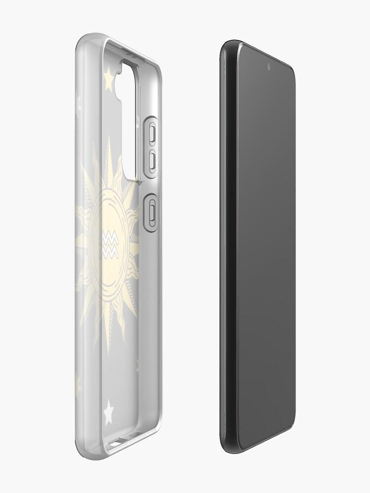 Alternate view of Aquarius Sun Case & Skin for Samsung Galaxy