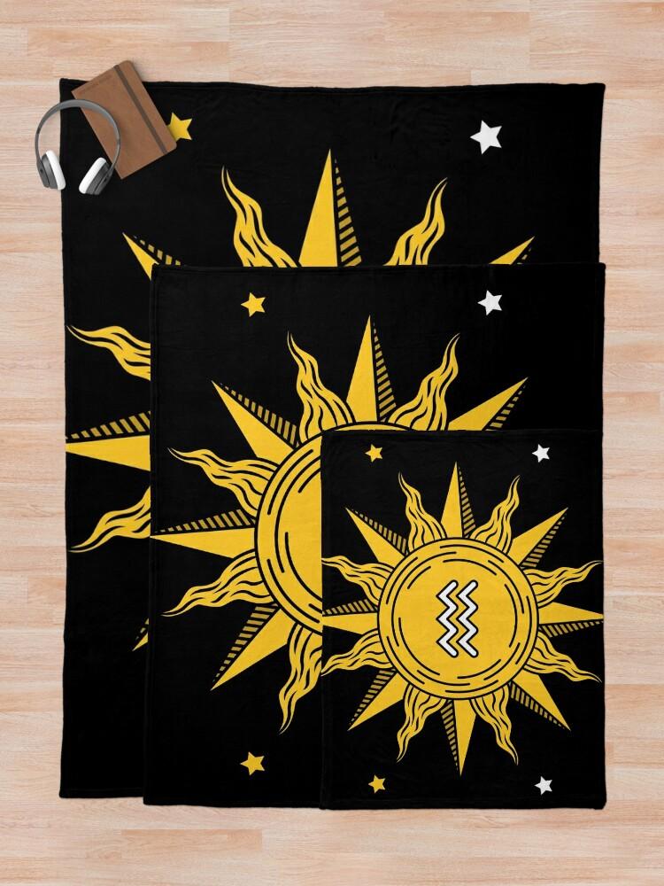 Alternate view of Aquarius Sun Throw Blanket