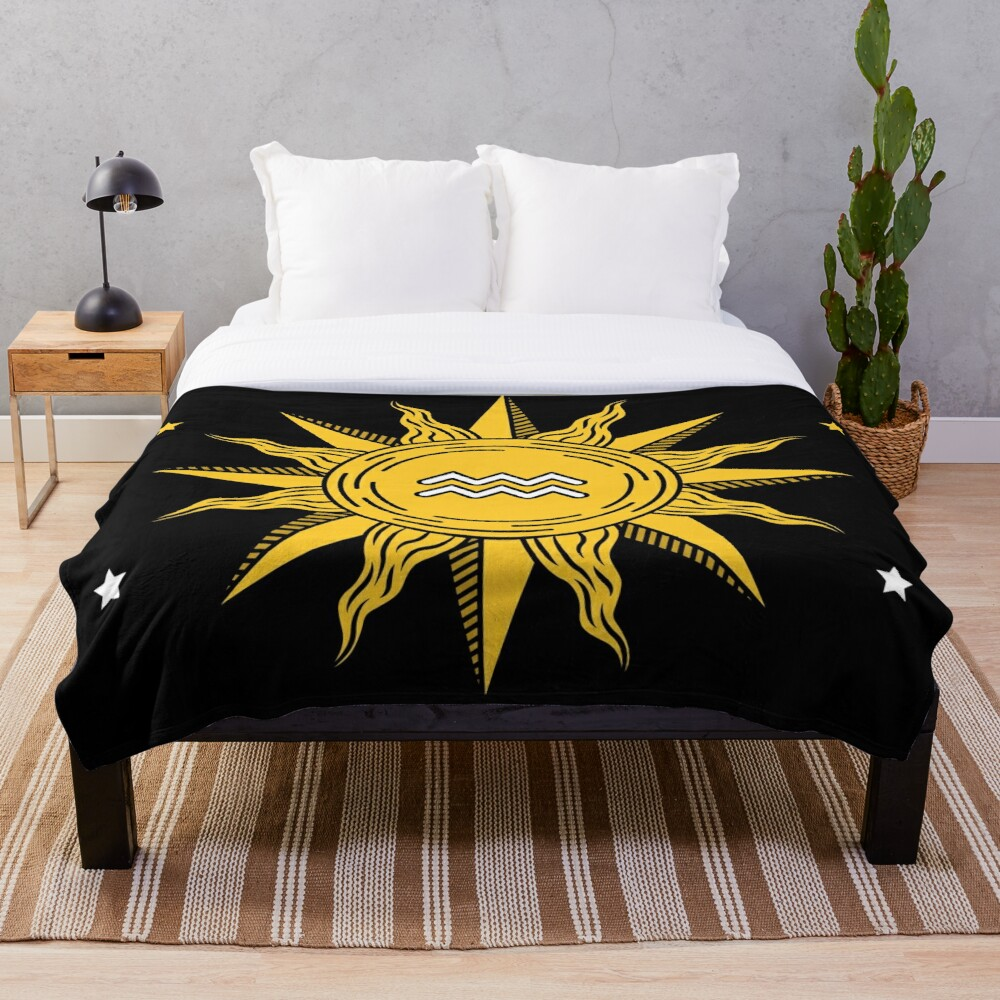 Aquarius Sun Throw Blanket