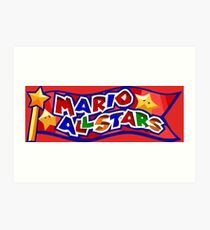 The Mario All Stars Art Print