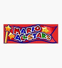 The Mario All Stars Photographic Print