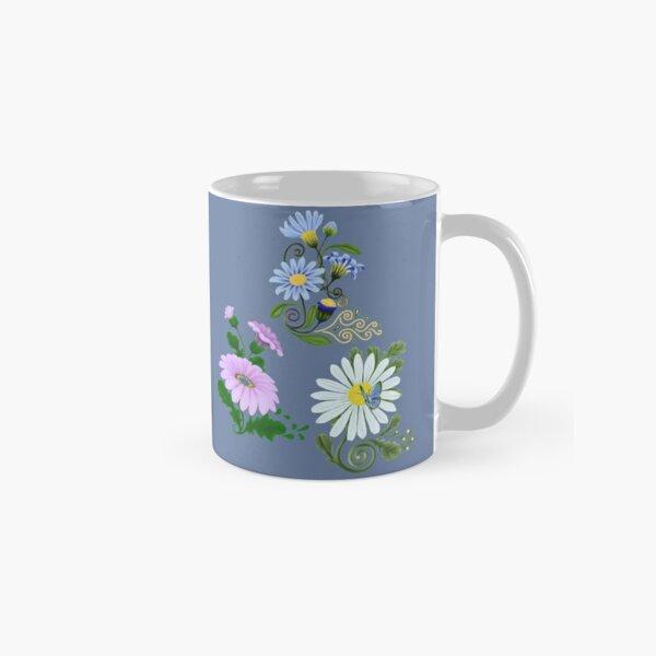 FLORAL ~ Folkart Daisies for Zipped Hoodies by tasmanianartist 05012021 Classic Mug