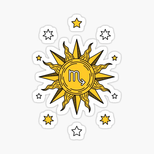 Scorpio Sun Sticker