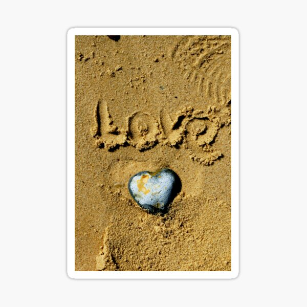 Pebble Heart. dedicated to Simon.  Sticker
