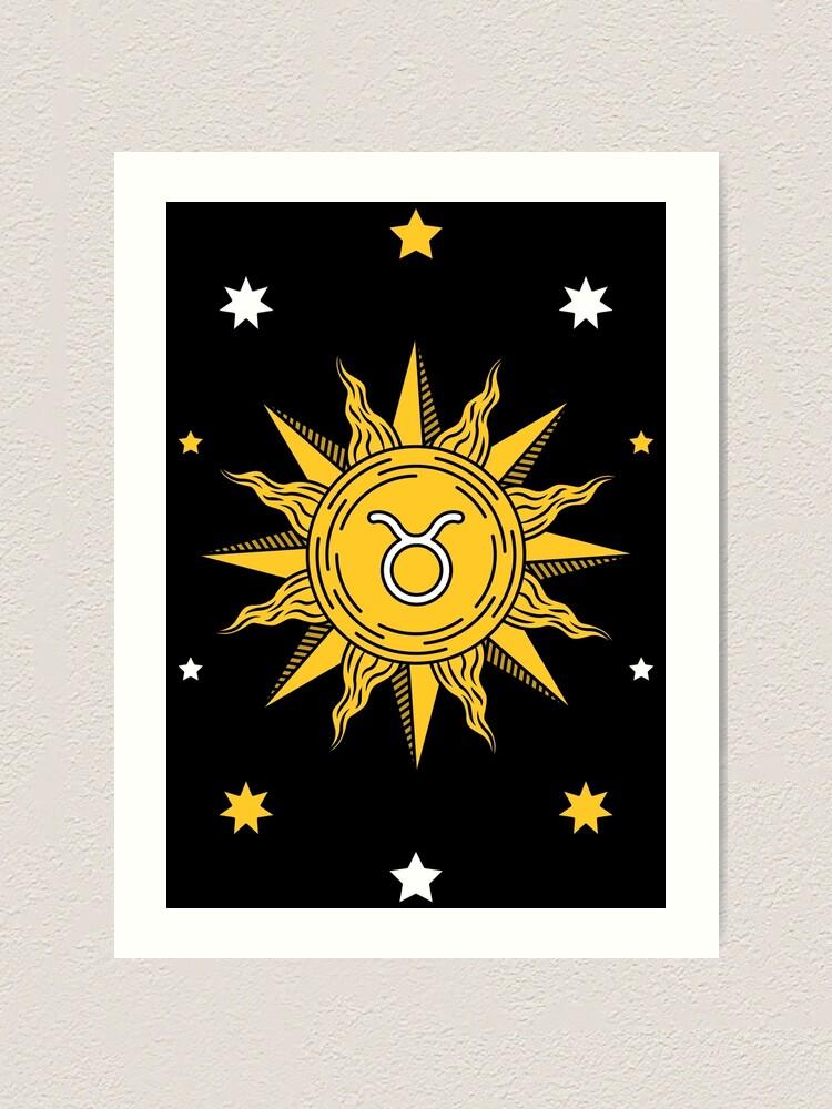 Alternate view of Taurus Sun Art Print