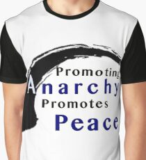 Promote Anarchy Promote Peace Graphic T-Shirt