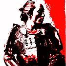 Samurai in Red by flashman
