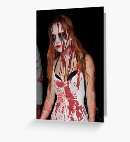 0763 Zombie 57 Greeting Card