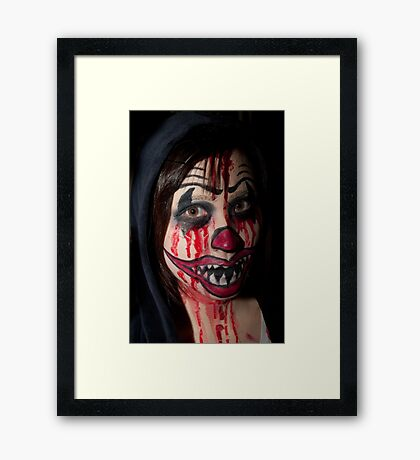 0752 Mum, have I got this lipstick on right ? Framed Print