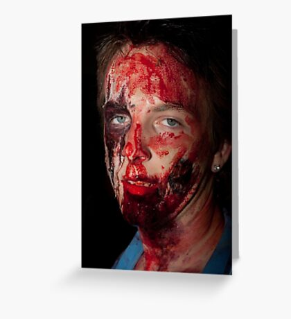 0750 Zombie 45 Greeting Card