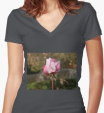 Blushing Beauty Women's Fitted V-Neck T-Shirt