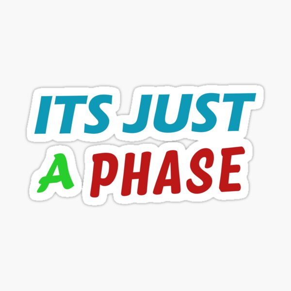 Its Just a Phase Good Gift Sticker