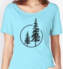 Two Simple Trees in a Circle Women's Relaxed Fit T-Shirt