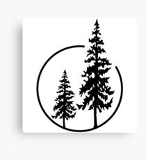 Two Simple Trees in a Circle Canvas Print