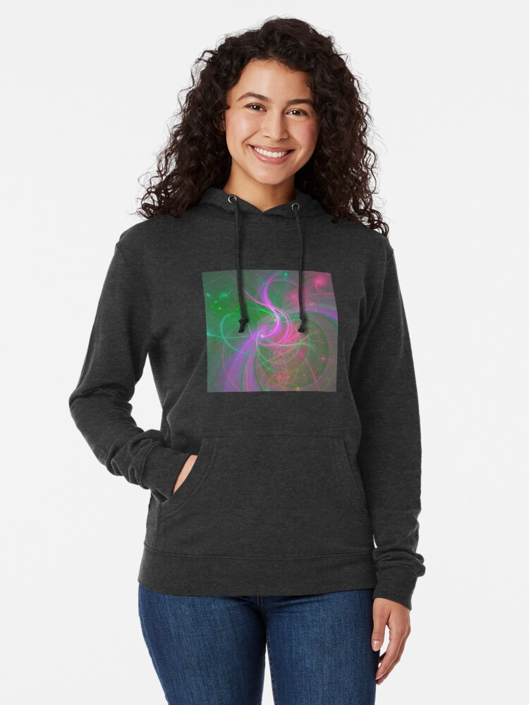 Alternate view of Chaotica fractalize space abstraction Lightweight Hoodie