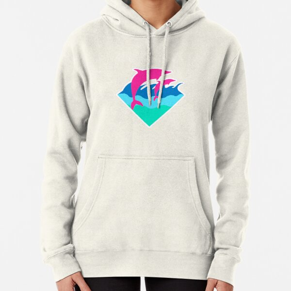 Pink Dolphin Pullover Hoodie