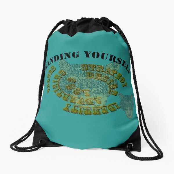 branding yourself design Drawstring Bag