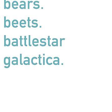 Bears Beets Battlestar Galactica by mhv23