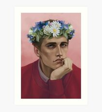 Flower crown Adam Art Print