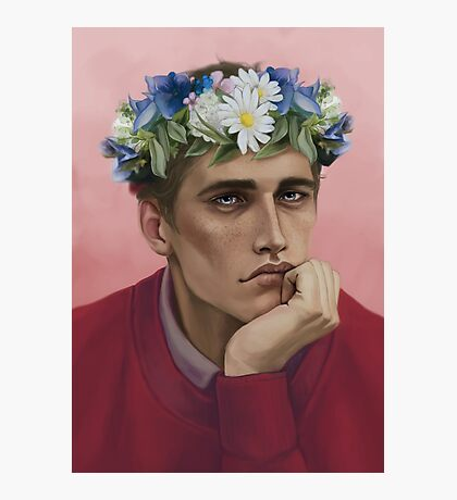 Flower crown Adam Photographic Print
