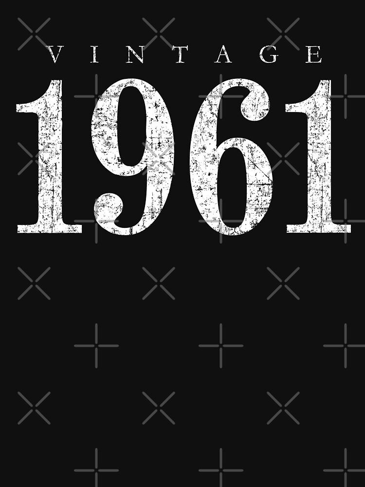 Vintage 1961 (Antik Weiß) 60. Geburtstag  von theshirtshops