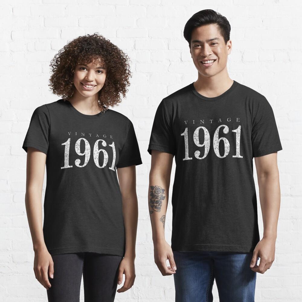 Vintage 1961 (Antik Weiß) 60. Geburtstag  Essential T-Shirt
