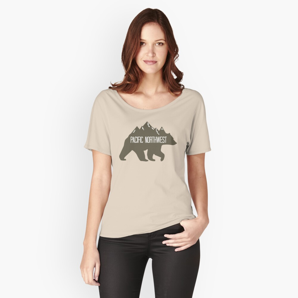 PNW Mountain Bear Women's Relaxed Fit T-Shirt Front