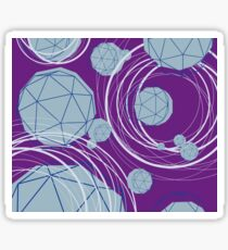 Faceted crystals Sticker