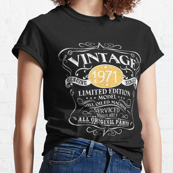 Vintage 1971 50.o regalo de cumpleaños hombres mujeres diseño original merch Camiseta clásica