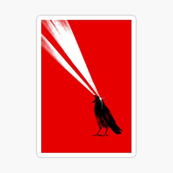 Laser crow Sticker
