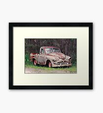 Rusted Wreck Framed Print