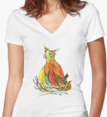 Gallus Domesticus Women's Fitted V-Neck T-Shirt