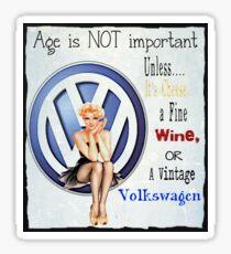 Vintage Cheese wine & Volkswagen Sticker