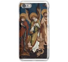 Saints George, Michael, and John the Baptist first quarter of the 16th century Unidentified artist, German (Upper Rhine) (German (Upper Rhine)) iPhone Case/Skin