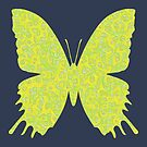 #DeepDream Lemon Lime color Butterfly by blackhalt