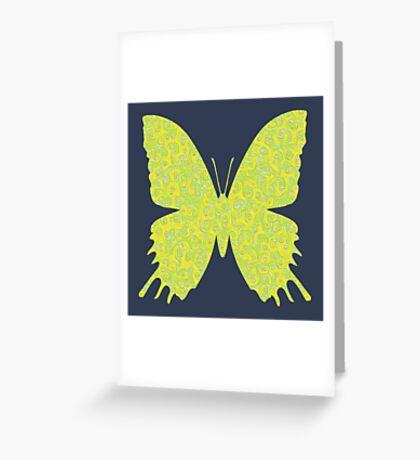 #DeepDream Lemon Lime color Butterfly Greeting Card