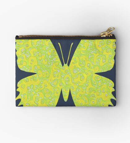 #DeepDream Lemon Lime color Butterfly Zipper Pouch