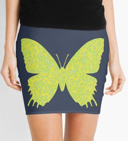 #DeepDream Lemon Lime color Butterfly Mini Skirt