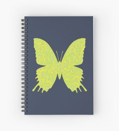 #DeepDream Lemon Lime color Butterfly Spiral Notebook