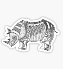 Javan Rhino Sticker