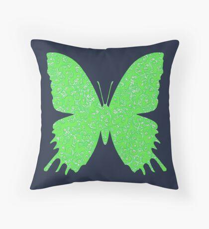 #DeepDream Lime Green color Butterfly Throw Pillow