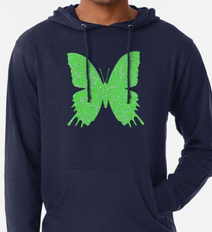 #DeepDream Lime Green color Butterfly Lightweight Hoodie