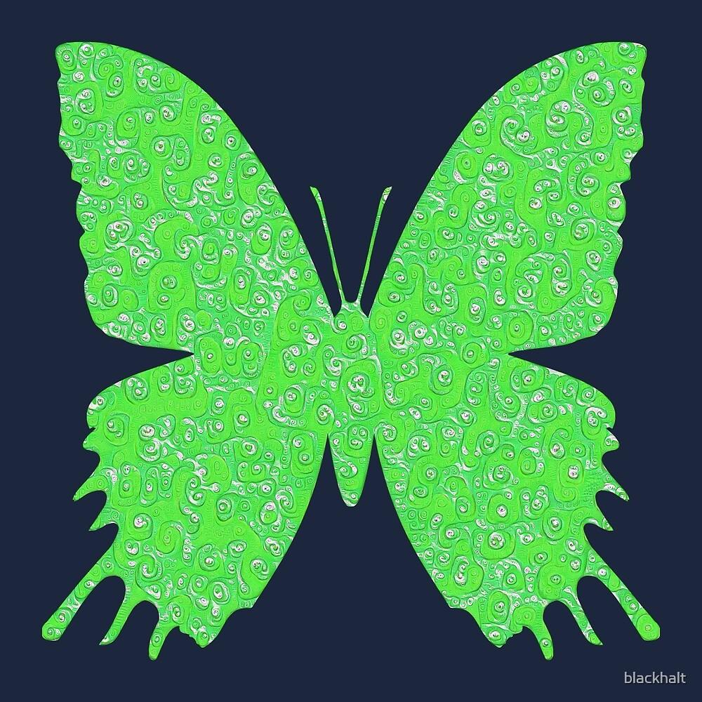 #DeepDream Lime Green color Butterfly by blackhalt