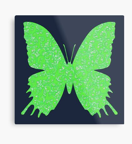 #DeepDream Lime Green color Butterfly Metal Print