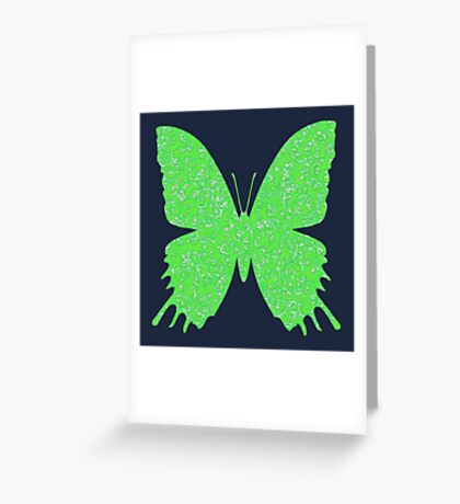 #DeepDream Lime Green color Butterfly Greeting Card