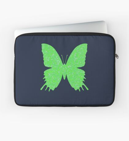 #DeepDream Lime Green color Butterfly Laptop Sleeve