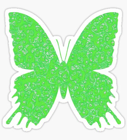 #DeepDream Lime Green color Butterfly Sticker
